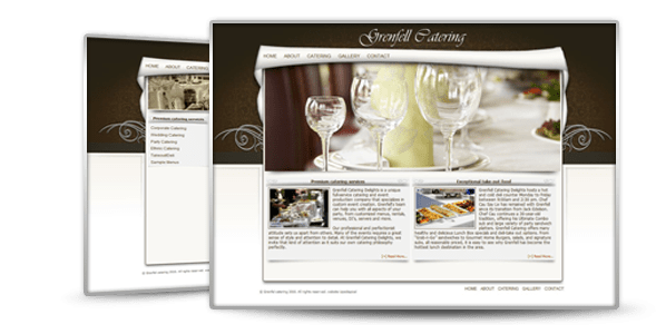 Web design of Grenfell catering