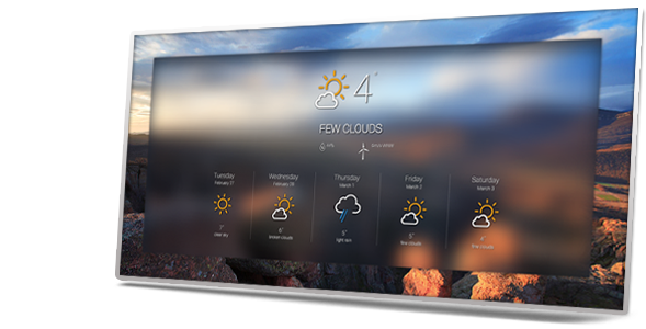 Weather application Interface